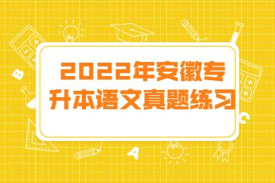 2022年安徽专升本语文真题练习